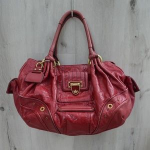 Red leather Juicy Couture hobo bag